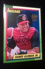 2016 Topps Archives SANDY ALOMAR JR. Auto Fan Favorites Blue  26/199 INDIANS