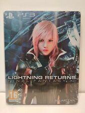 Lightning Returns Final Fantasy XIII Steelbook PS3 (boitier/livret/jeu/DLC) NEW