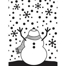 Darice Snowman Arms Up Embossing Folder - Christmas Paper Crafts - Snowflakes