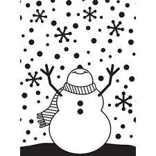 Darice Muñeco de nieve armas de carpeta de grabación en relieve-Artesanías De Papel De Navidad-Copos De Nieve