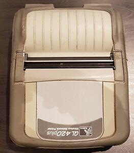 USED Zebra QL420 Plus Mobile Wireless Thermal Shipping Label POS Receipt Printer