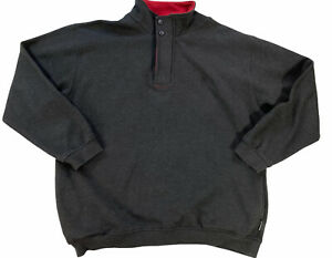 Original Penguin Shirt Grey Mens Jumper Size XXL Fleece Lined