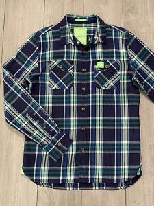 SUPERDRY Mens Slim Fit Lumberjack Twill Check Plaid Long Sleeve Shirt   Large L
