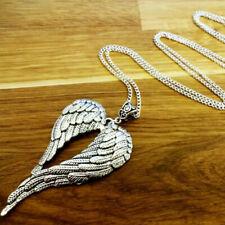 Kupfer Ein Geschenk Antikes Silber Halskette Angel Wing Pendant Heiligkeit