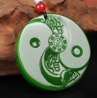 Natural Jade Pendant Necklace gossip baguataiji jade statue Amulet China jade