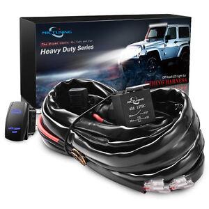 MICTUNING 12 Gauge 600W HD Wiring Harness Rocker Switch 60A Ralay 3 FREE Fuse