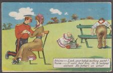 (R4-8) 1916 comic post card 1d red GV Melbourne cancel