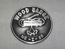 VINTAGE BSA BOY SCOUTS OF AMERICA  1958 NE-II-58 PEWTER WOOD BADGE COIN MEDAL