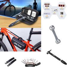 Bicycle Bike Mechanic Multifunction Repair Tools Kit With Tire Pump Portable Bag