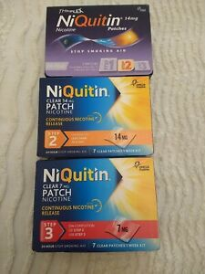 Niquitin patches x 3 assorted