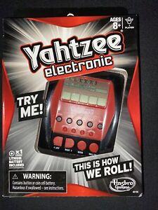 Hasbro Yahtzee Electronic Digital Handheld Game  Brand New In SEALED Box 2012
