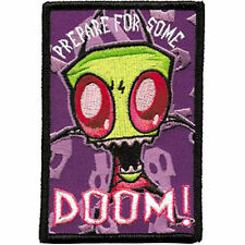 """Invader Zim Prepare For Doom 2 5/8"""" x 4"""" Sew Ironed On Embroidery Applique Patch"""