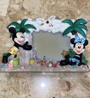 "Disney Mickey Minnie Mouse Beach Resort Fits  3.5x5 Picture Frame 11x2x6"""