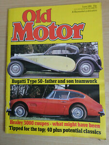 Old Motor Magazine June 1981 - Bugatti 50,Healey 3000,63/68 Corvette,Ferrari 308