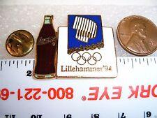 Olympic Coca Cola Coke Bottle Lapel Pin Lillehammer 94