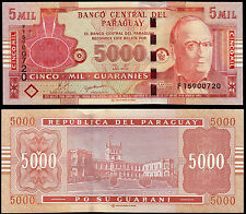 PARAGUAY 5000 GUARANIES (P223c) 2010 UNC