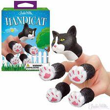 Handicat soft vinyl finger puppet Cat Kitten - Novelty Fun Gag Gifts