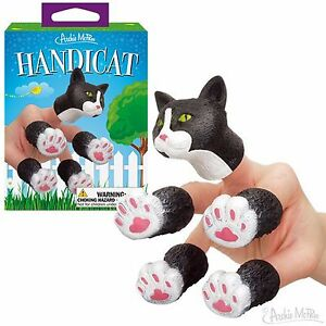 Handicat soft vinyl finger puppet Cat Kitten - Novelty Fun Gag Gifts