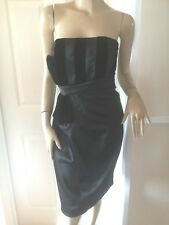 TEATRO STUNNING BLACK SATIN/VELVET  EVENING/COCKTAIL DRESS SZ 14