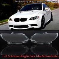 L+R Scheinwerferglas Satz Glas Streuscheibe Für BMW E92 E93 /Coupe M3