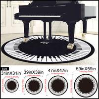 Piano Key Round Carpet Anti-Skid Area Rug Room Home Bedroom Carpet Floor Mat