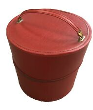 Vintage Red Wig/Hat Travel Luggage Carrying Case