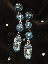 Earrings In Light blue Colour Wedding Party Eid Costume Jewellery