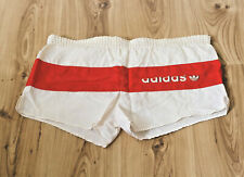 Vintage Adidas Sprinter Shiny Shorts True West Germany VTG 80s 80er Weiß Rot S2