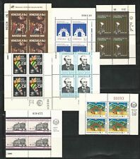 Venezuela: Lot of 18 different stamps in block of 4 with control number...VE1615