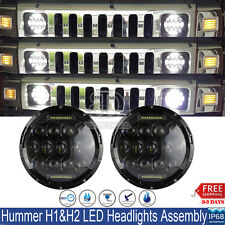"2x 7""Inch Round 150W Total CREE LED Projector Headlights DRL For Hummer H1 H2"