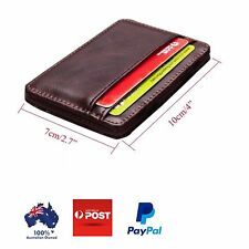 Men's Leather Wallet, Slim Card Holder, Great Birthday Gift, Free Shipping