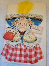 "Rare Vintage 1947 Collectible Hallmark Card Doll No.15 ""Polly, put the kettle """