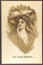 Her Royal Highness,1909, Mary Laf. Russell, printed postcard