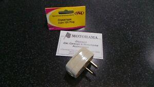 W4 CARAVAN/MOTORHOME 12 VOLT/12V DC 2 PIN CLIPSAL 15 AMP PLUG/FITMENT MOTORAMA