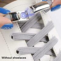 Elastic Magnetic Locking No Tie Shoe Laces Kids Unisex Sneakers Shoe Laces Black