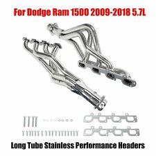 Long Tube Stainless Performance Headers For Dodge Ram 1500 2009 2018 57l New