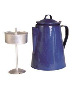 Mil-Tec Kaffeekanne emailliert Percolator für 12 Tassen Outdoor Camping 2 Liter