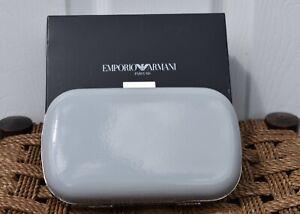 New Emporio Armani Ladies Silver Grey Handbag Clutch Bag