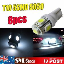8pcs Super White T10 5LED 5050 Chip Car Interior Wedge Dome Light Bulb Replaces
