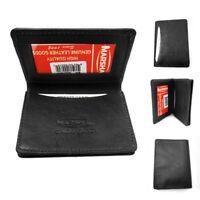 RFID Wallet Card Holder Id Credit Blocking Leather Money New Mens Genuine Black