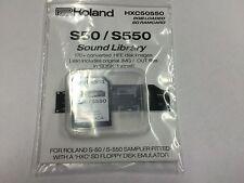 Roland S50/S550-Pré-chargé Carte SD projet HXC - 170+ images disque.. soulignait S-50 S-550