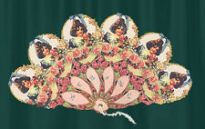 Bows & Roses Victorian Hand Fan Greeting Card Fan!