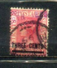 1892 Malaya Straits Settlements QV Overprint 3c on 32c Carmine-Rose