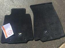 "NEW OEM NISSAN 370Z 2009-2012 - PLUSH CARPET FLOOR MATS W METAL ""Z"" EMBLEM"