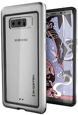 GHOSTEK ATOMIC Slim Protective Case Shock-Proof Alu for Galaxy Note 8 Silver