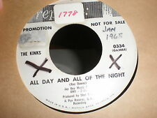 The Kinks 45 All Day and All Of The Night REPRISE PROMO