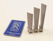 Rolls Royce Avon Jet engine - Blades x3 - RAF- aircraft parts - turbine blade
