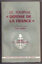GUERRE 39/45 RESISTANCE JOURNAL CLANDESTIN DEFENSE DE LA FRANCE n°1 à 48 GRANET