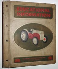 Ford Dealers Educational Information Manual Catalog Book 3-Ring Binder (empty)
