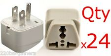 Plug Adapter - 24PK Universal American Plug Adapter Euro Asia Plug to USA Style